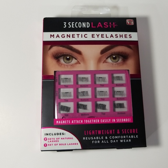 02f0991d721 3 Second Lash Makeup   Nib Magnetic Eyelashes 3 Full Sets   Poshmark